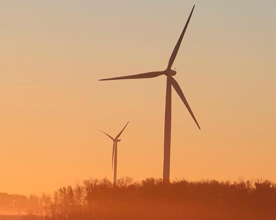Effectieve windmolens in het buitengebied